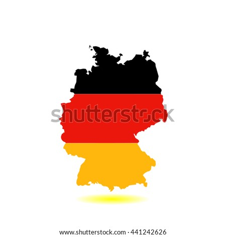 Map and flag of Germany