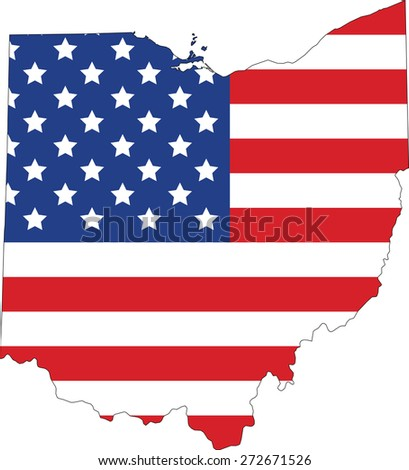 Map Flag United States America Vector Stock Vector - Red blue us map