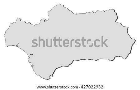 Map Spain Andalusia Stock Vector Shutterstock - Andalusia map