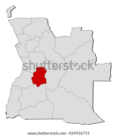 Map Angola Huambo Stock Vector 424926715 Shutterstock