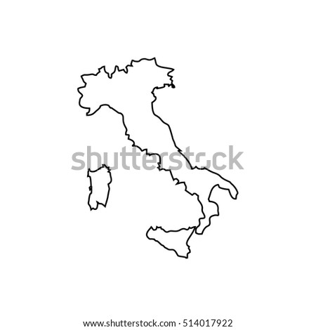 Italy Outline Black