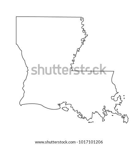 map black outline state usa louisiana