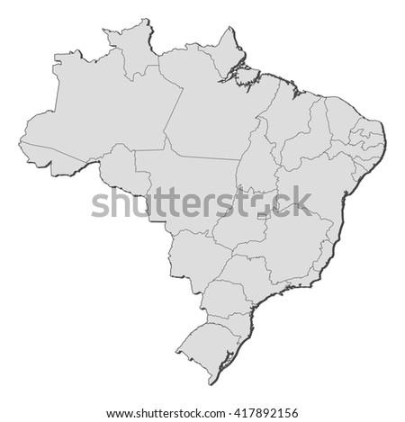 Map - Brazil - stock vector
