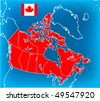 Map Canada - stock vector