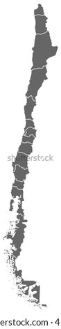 Map - Chile - stock vector