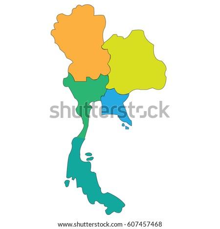 Map countries thailand vectores en stock 607457468 shutterstock map countries thailand gumiabroncs Images