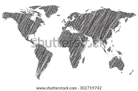 map draw line - stock vector
