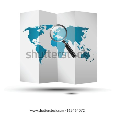 map europe - stock vector