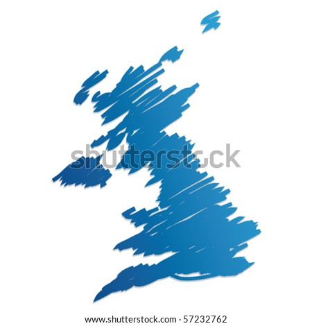 map flag of the UK - stock vector