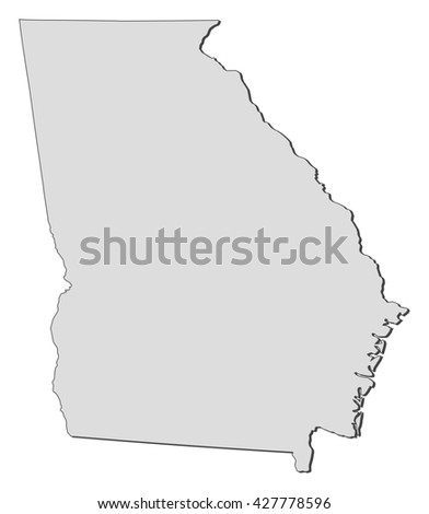 Map United States Georgia Dillustration Stock Illustration - Is georgia in the united states