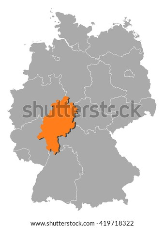 Map - Germany, Hesse - stock vector