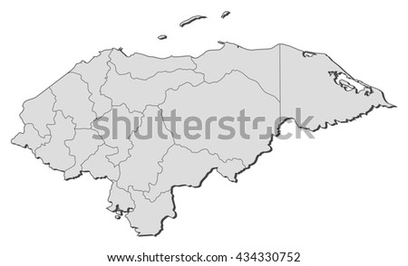 Map - Honduras - stock vector