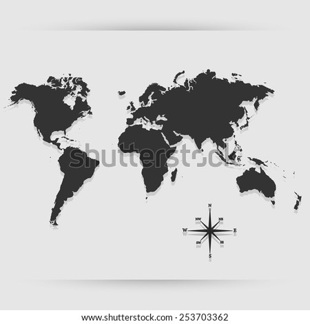 Map icon great for any use. Vector EPS10. - stock vector