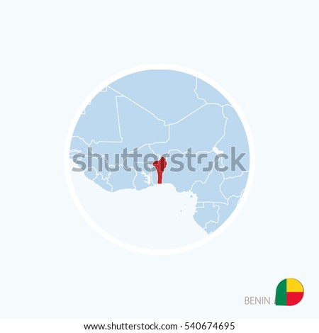 Map icon benin blue map west stock vector 540674695 shutterstock map icon of benin blue map of west africa with highlighted benin in red color ccuart Image collections