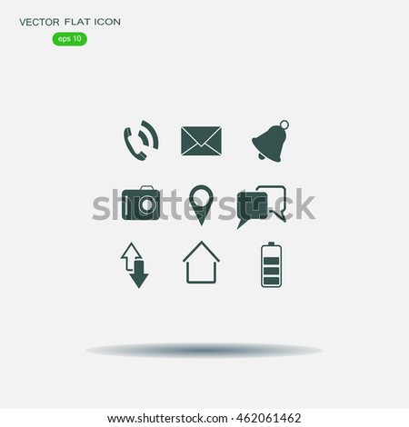 Map icons on white background. GPS and Navigation. Vector illustration.