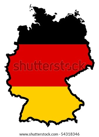 map in colors of Germany
