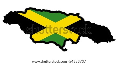map in colors of Jamaica
