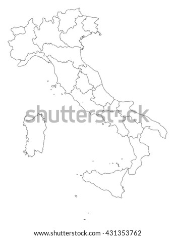 Map - Italy - stock vector