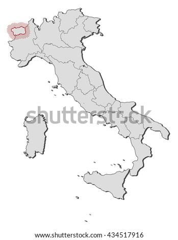 Aosta Map Stock Images RoyaltyFree Images Vectors Shutterstock