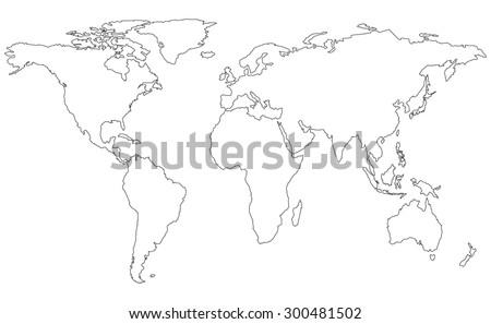 map line - stock vector