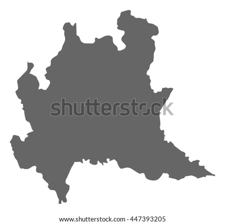 Map Lombardy Italy Stock Vector 447393205 Shutterstock