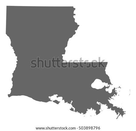 Louisiana Map Stock Images RoyaltyFree Images Vectors - Us map louisiana