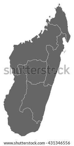 Map - Madagascar - stock vector