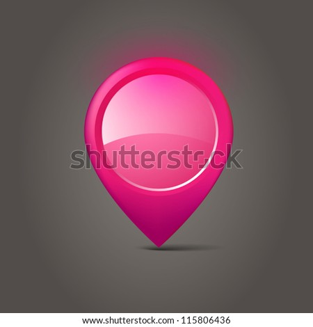 Map marker - stock vector