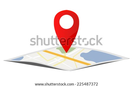Map navigation - stock vector