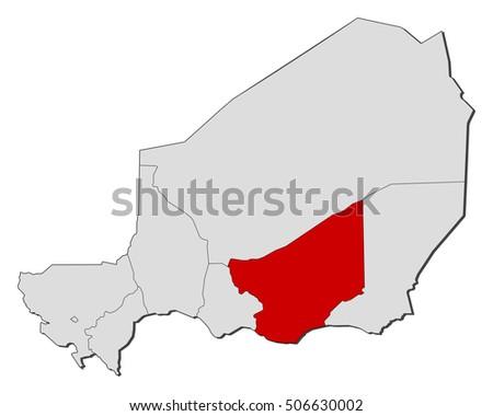 Map Niger Zinder Stock Vector 506630002 Shutterstock