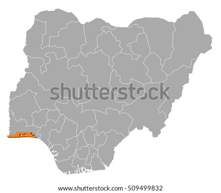 Map Nigeria Lagos Stock Photo Photo Vector Illustration
