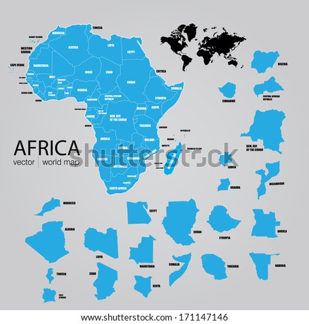Map of Africa. Vector - stock vector