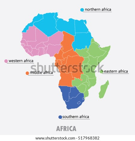 Map of Africa  ,vector illustration