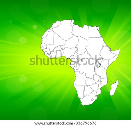 Map of Africa with Background - Vector Illustration - stock vector