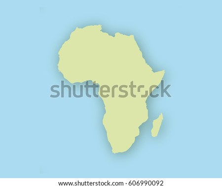Map of Africa with shadow