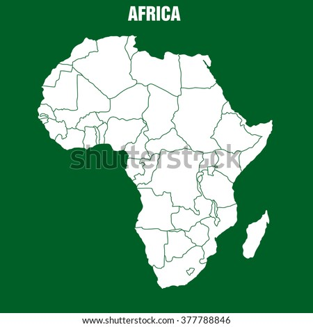 Map of African Continent - Illustration - stock vector