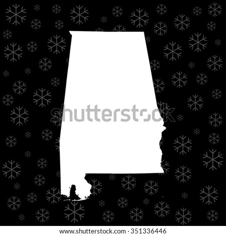 map of Alabama - stock vector
