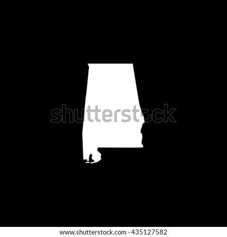 Map of Alabama Vector Illustration - stock vector