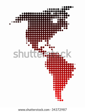 Map of America - stock vector