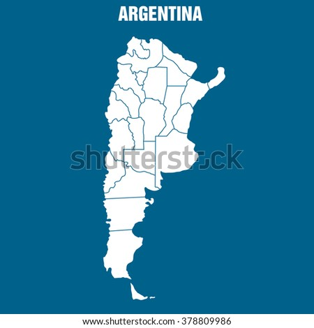 Map of Argentina - Illustration - stock vector