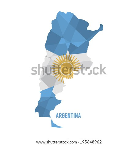 Map of Argentina Vector Illustration - stock vector