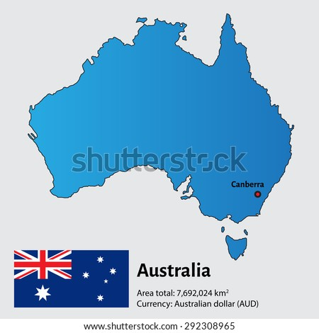 Map Australia Capital City Sukhumi Stock Vector 292308965 Shutterstock