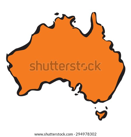 Map of Australia. Vector Illustration. - stock vector