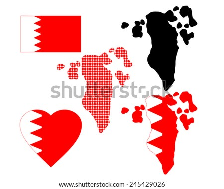 Bahrain Map Vector Map of Bahrain in Different