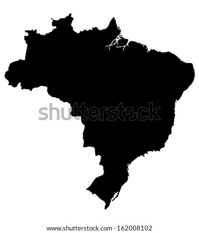 Map of Brazil. High detailed vector map. Map Brazil. Map Brazil. Map Brazil. Map Brazil. Map Brazil. Map Brazil. Map Brazil. Map Brazil. Map Brazil. Map Brazil. Map Brazil. Map Brazil.  - stock vector