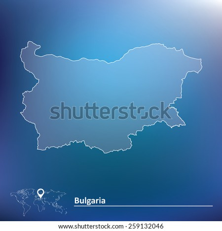 Map of Bulgaria - vector illustration - stock vector