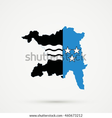 Map Canton Country Subdivision Aargau Switzerland Stock Illustration