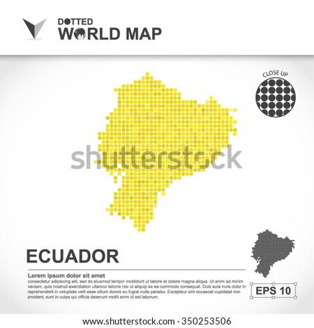Map Of Ecuador Dotted Vector - stock vector