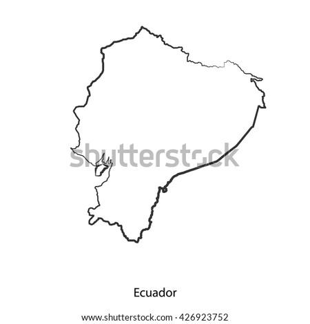 Map of Ecuador for your design, concept Illustration. - stock vector