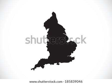 map of  England flag  Decorative idea design - stock vector